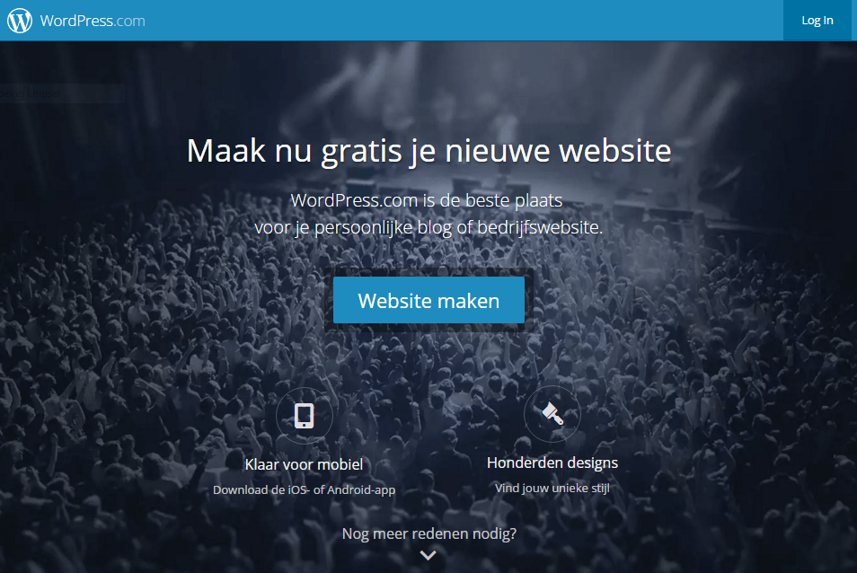 Maak gratis je Wordpress website blog